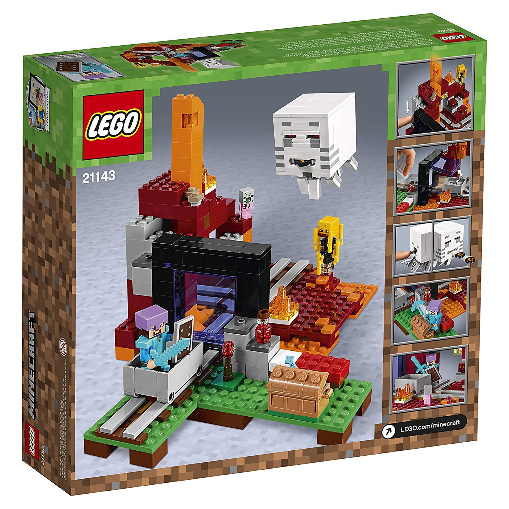 Minecraft The Nether Portal Lego Building Kit Official Minecraft Store Powered By J Nx