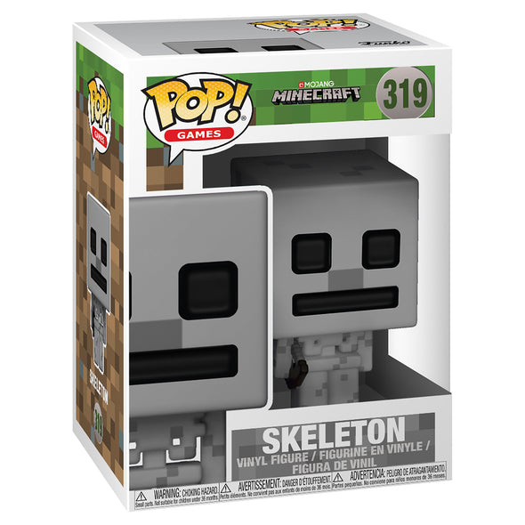 View 2 of Minecraft Skeleton Pop! Vinyl Figure photo.