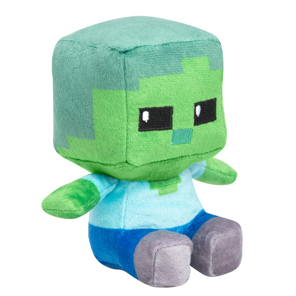 View 1 of Minecraft Mini Crafter Zombie Plush photo.