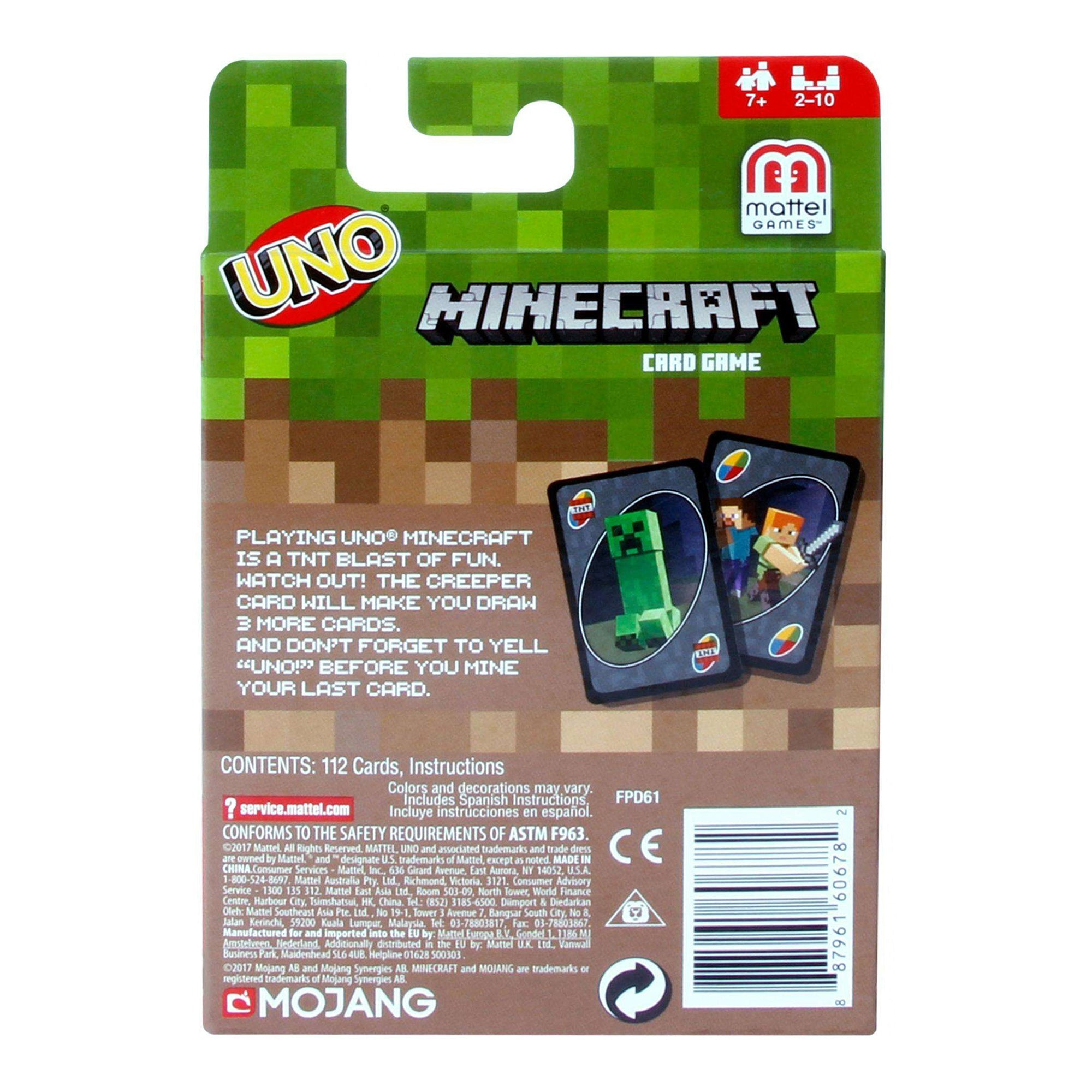 Uno Minecraft the Card Game NEW Toys and Collectibles