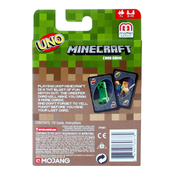 View 3 of Minecraft UNO Card Game photo.