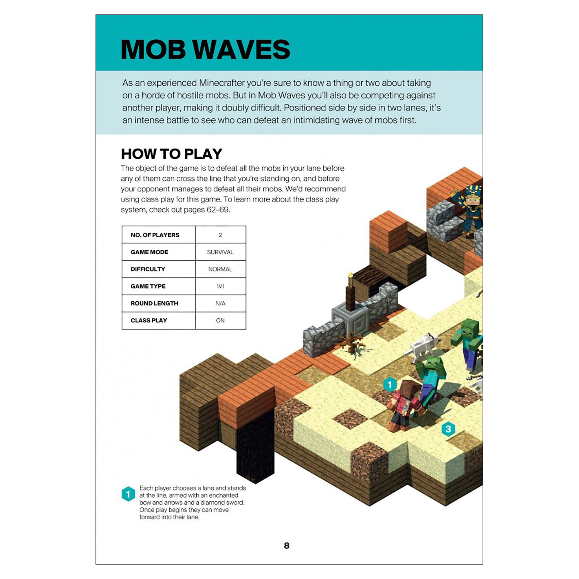 Minecraft: Guide to PvP Minigames Book – Official Minecraft Store