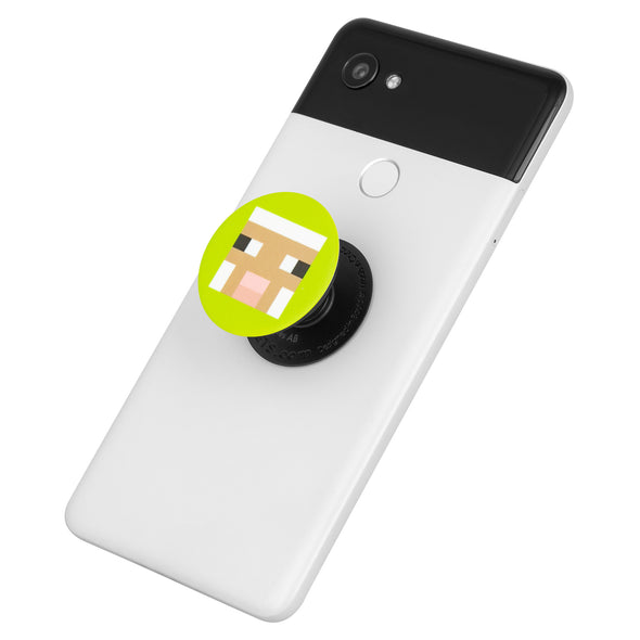 View 2 of Minecraft Lime Sheep PopSocket photo.