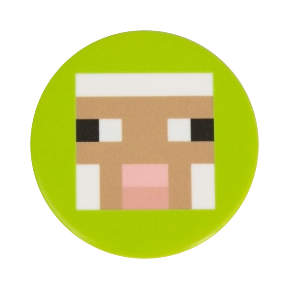 View 3 of Minecraft Lime Sheep PopSocket photo.