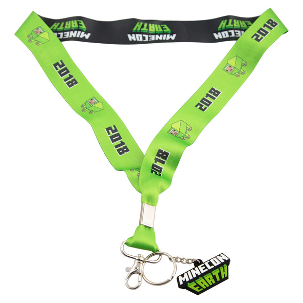 View 1 of Minecraft MINECON Earth 2018 Lime Sheep Lanyard photo.