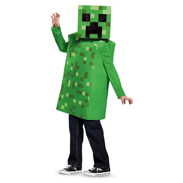 View 1 of Minecraft Creeper Classic Youth Costume photo.