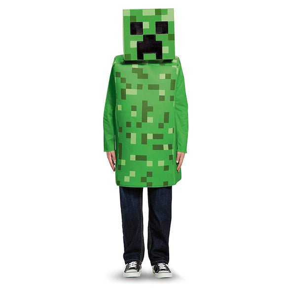 View 2 of Minecraft Creeper Classic Youth Costume photo.
