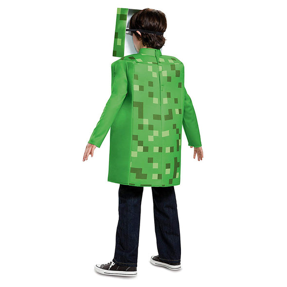 View 3 of Minecraft Creeper Classic Youth Costume photo.