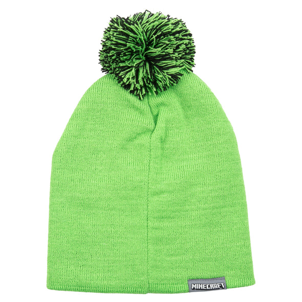 View 2 of Minecraft Creeper Pom Beanie photo.