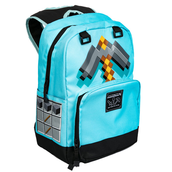 View 1 of Minecraft Diamond Pickaxe Backpack photo.