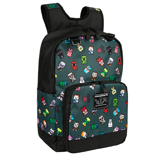 "View 1 of Minecraft 17"" Bobble Mobs Backpack photo."