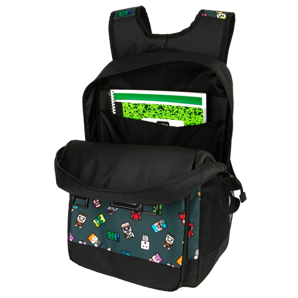 "View 2 of Minecraft 17"" Bobble Mobs Backpack photo."