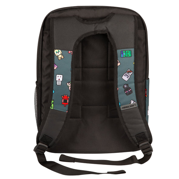 "View 3 of Minecraft 17"" Bobble Mobs Backpack photo."