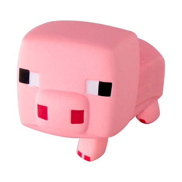 View 1 of Minecraft SquishMe Pig Foam Toy photo.