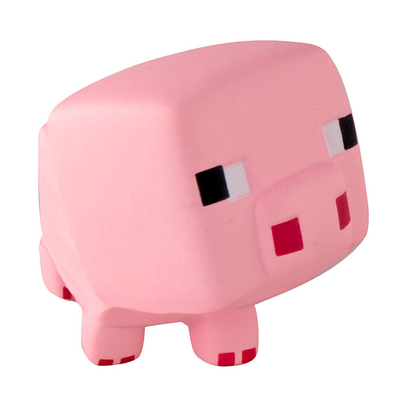 View 2 of Minecraft SquishMe Pig Foam Toy photo.