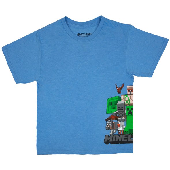 View 1 of Minecraft Mob In My Side Youth Tee photo.