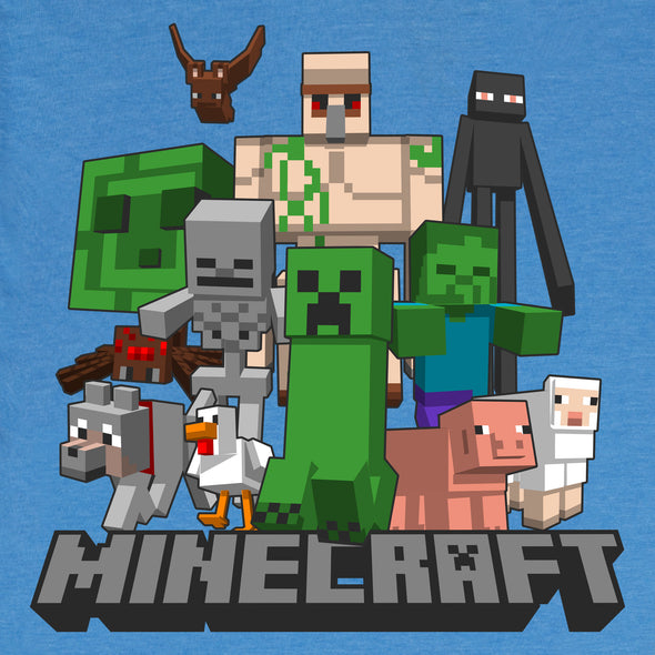 View 3 of Minecraft Mob In My Side Youth Tee photo.
