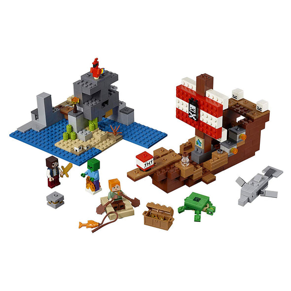View 1 of Minecraft The Pirate Ship Adventure LEGO Building Set photo.