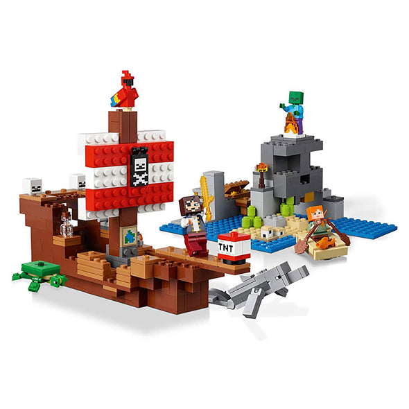 View 2 of Minecraft The Pirate Ship Adventure LEGO Building Set photo.