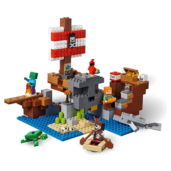View 3 of Minecraft The Pirate Ship Adventure LEGO Building Set photo.