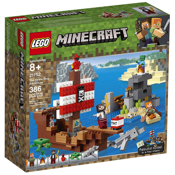 View 4 of Minecraft The Pirate Ship Adventure LEGO Building Set photo.