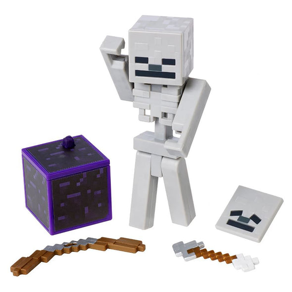 View 2 of Minecraft Skeleton Comic Maker Action Figure photo.