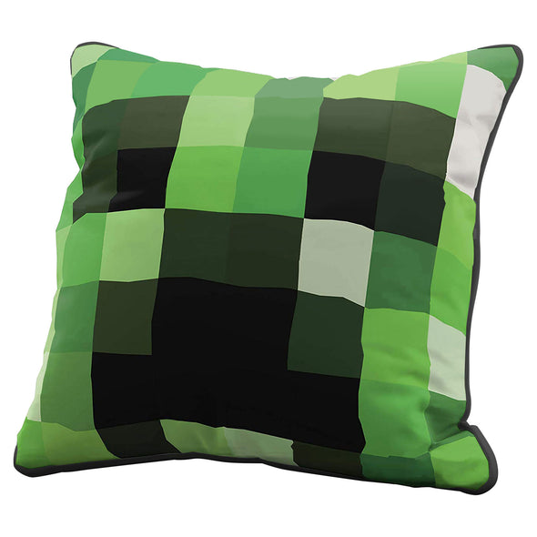 View 1 of Minecraft Creeper Pillow Cover photo.
