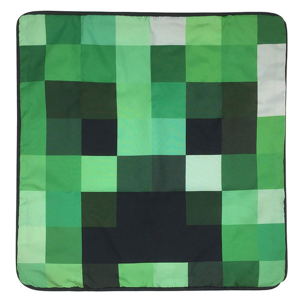 View 2 of Minecraft Creeper Pillow Cover photo.