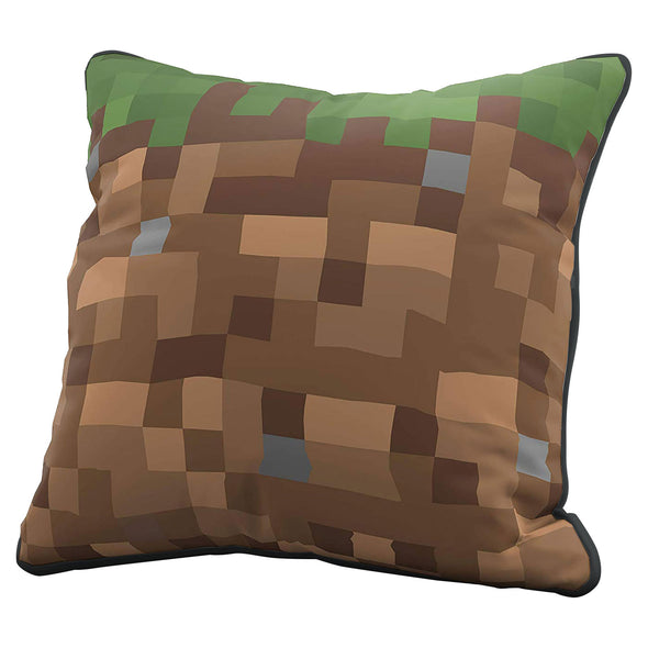 View 1 of Minecraft Grass Block Pillow Cover photo.