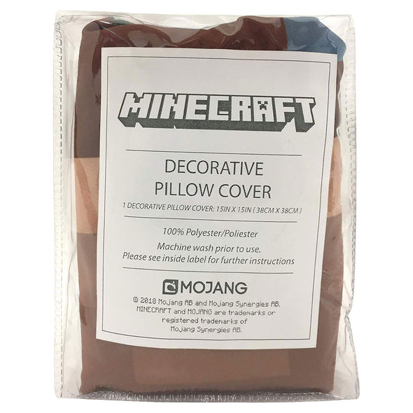 View 3 of Minecraft Grass Block Pillow Cover photo.