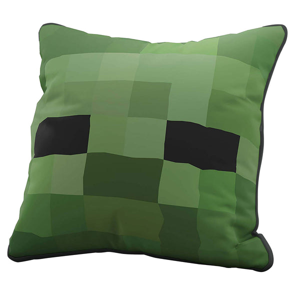 View 1 of Minecraft Zombie Pillow Cover photo.