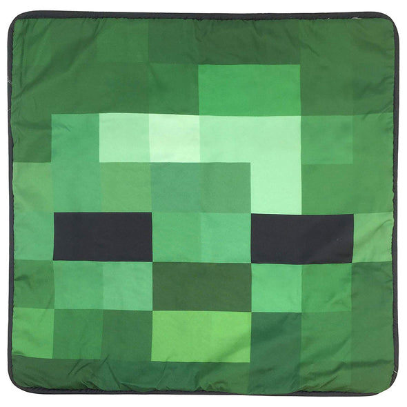 View 2 of Minecraft Zombie Pillow Cover photo.