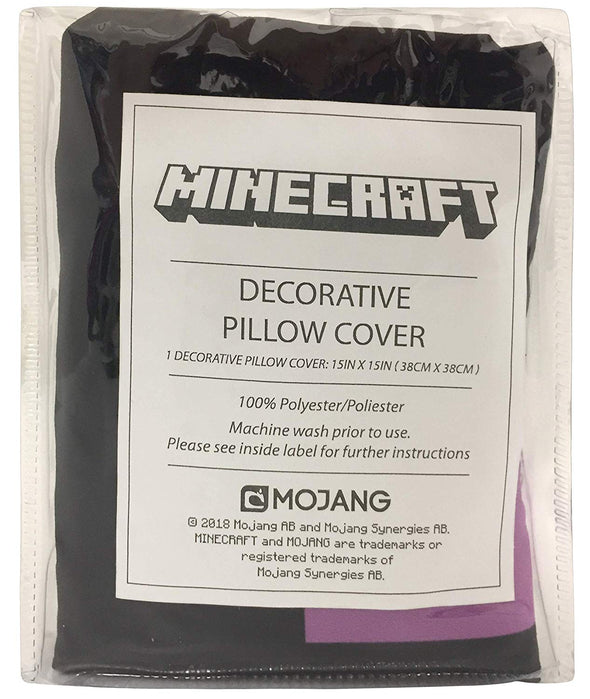 View 3 of Minecraft Enderman Pillow Cover photo.
