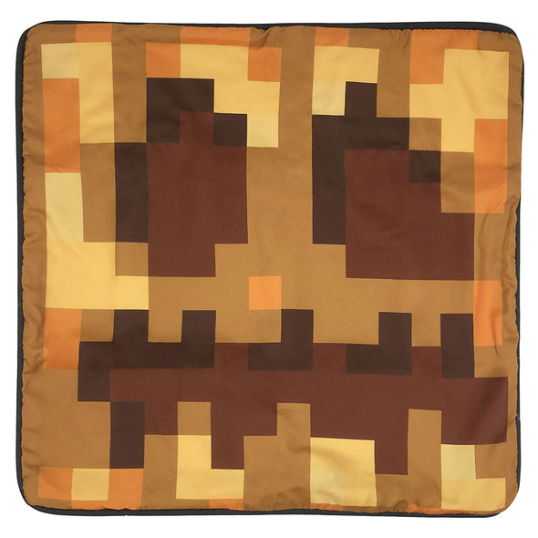 View 2 of Minecraft Pumpkin Head Pillow Cover photo.