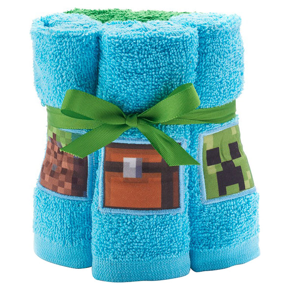 View 1 of Minecraft Overworld Adventure 6-Piece Washcloth Set photo.