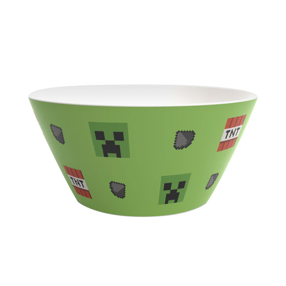 View 2 of Minecraft Creeper Plastic Bowl photo.