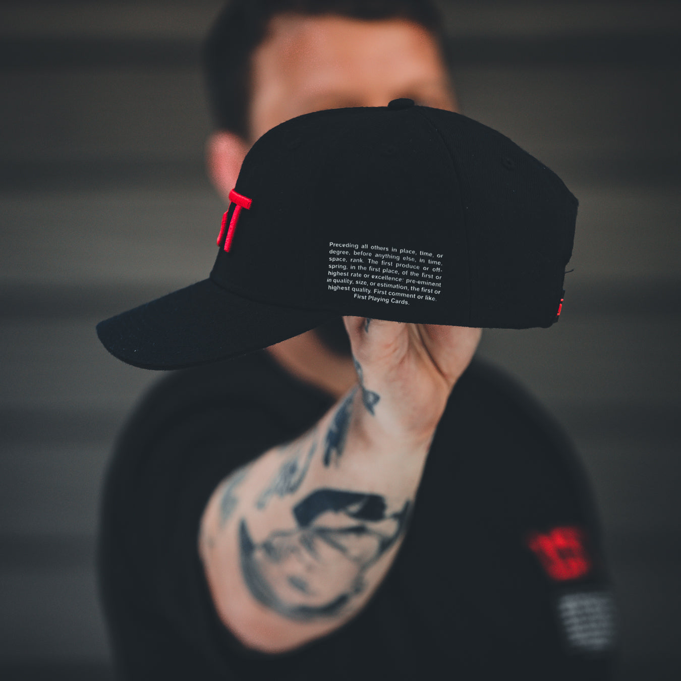 1ST Snapback Hat Red Logo