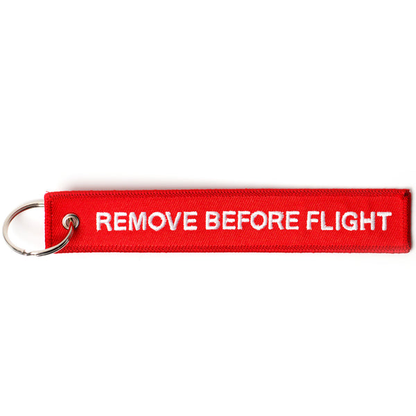 "1ST Keychain ""Remove Before Flight"""