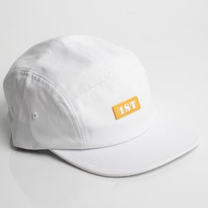 White 1ST Five Panel Hat