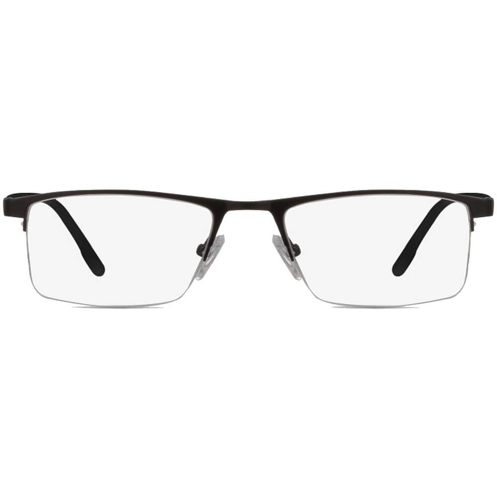 Blue Light Glasses for Computer Anti Glare Half Rim Rectangle Frame
