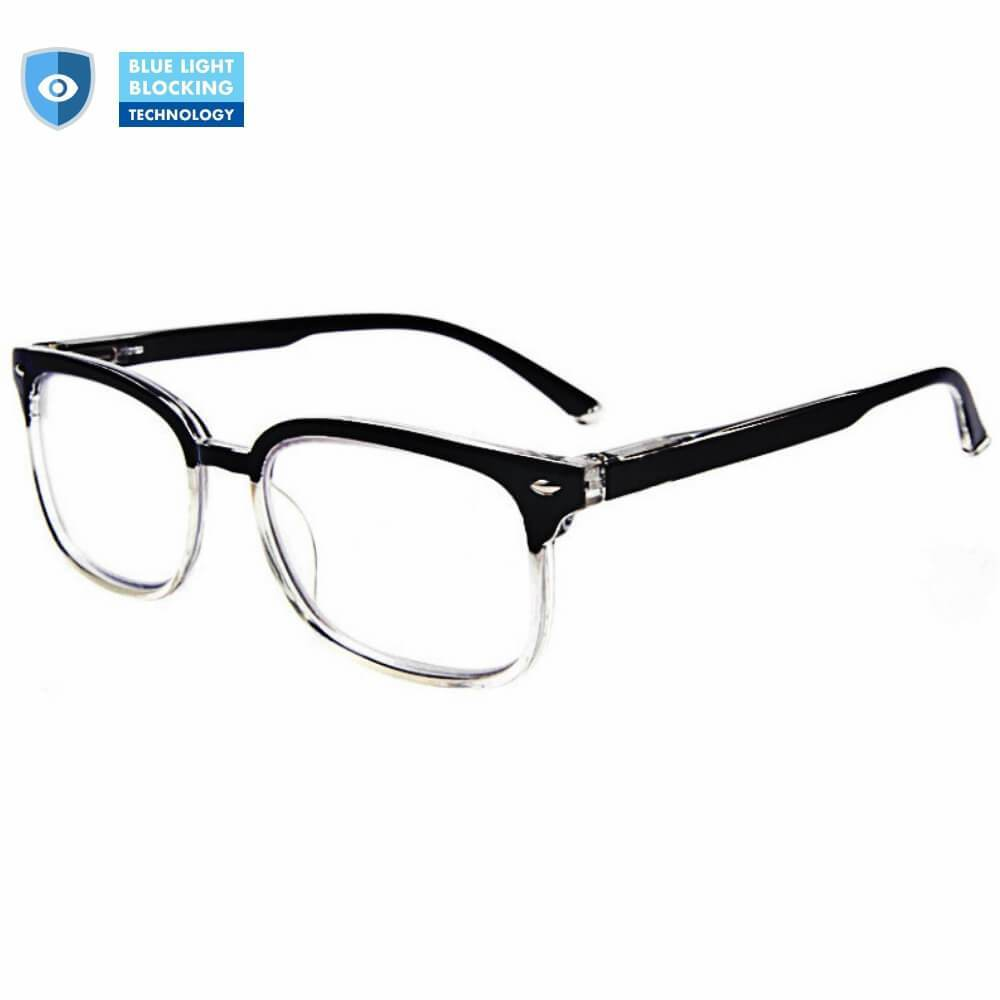 Blue Light Blocking Progressive Multifocal Reading Glasses - B/Clear - Teddith Blue Light Blocking Glasses for Computer Gaming Anti Glare Reduce Eye Strain Screen Glasses