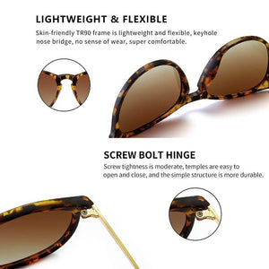 Polarized Sunglasses for Women Vintage Retro Round Frame - Maggie