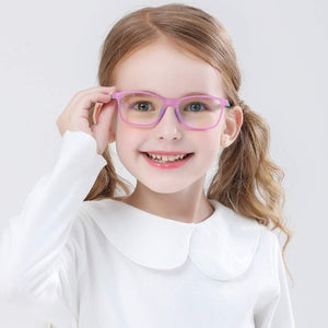 Blue Light Blocking Computer Screen Reading Glasses for Kids Ages [3-9] - Malik