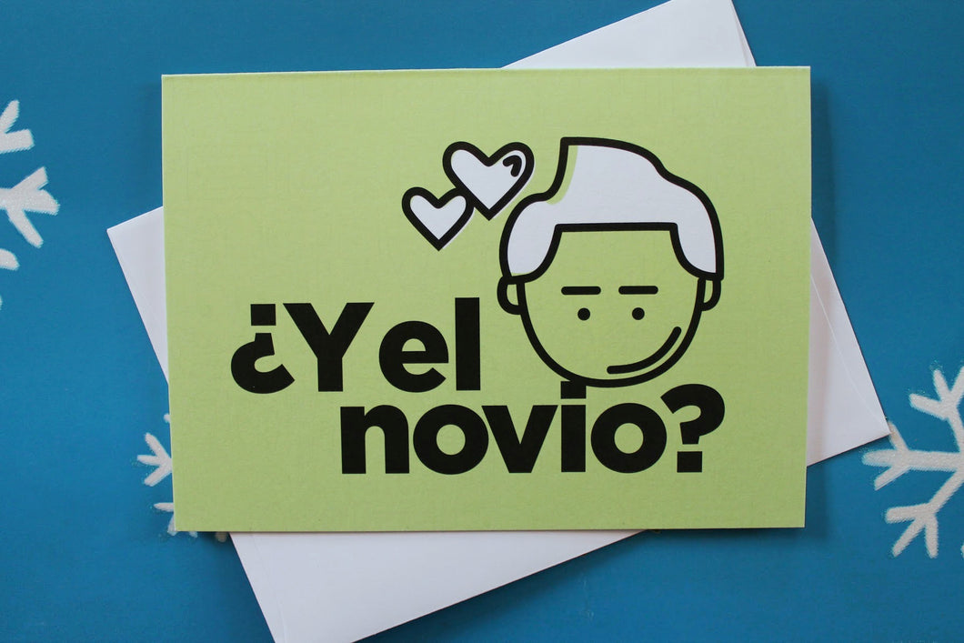 Latin Holiday Card: ¿Y el novio?