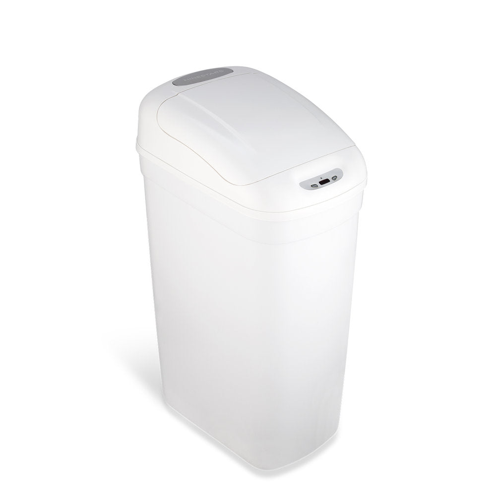 Slim Motion Sensor Trash Can 7.1 Gallon, White
