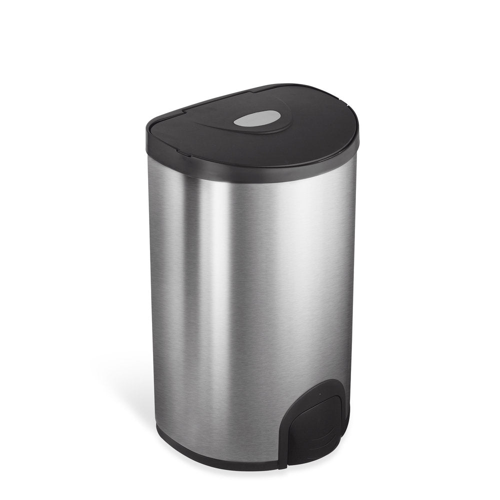 Semi-Round Tap Sensor Trash Can 4.8 Gallon