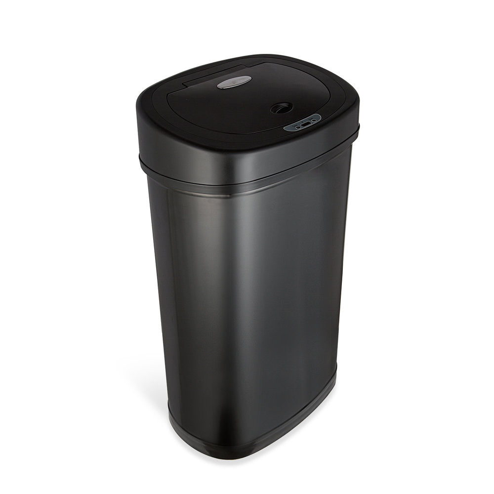 Rectangular Motion Sensor Trash Can 13.2 Gallon, Black