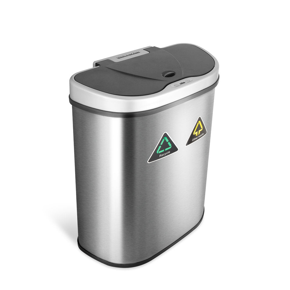 Dual Compartment Motion Sensor Trash Can 18.5 Gallon