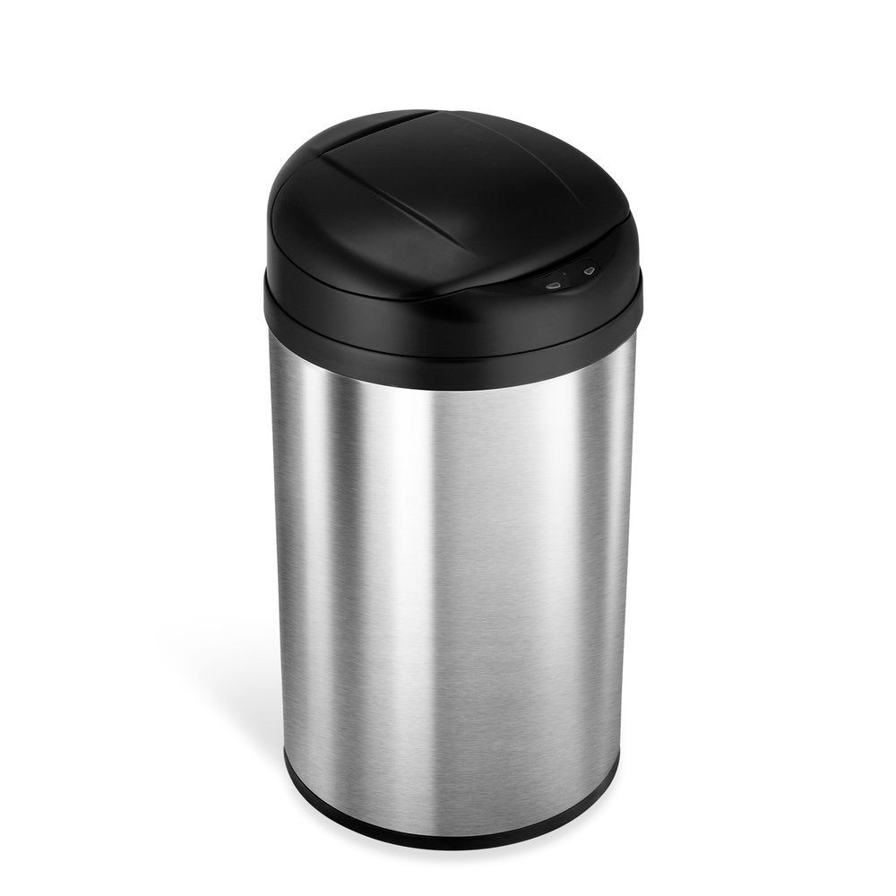 Round Motion Sensor Trash Can 10.6 Gallon