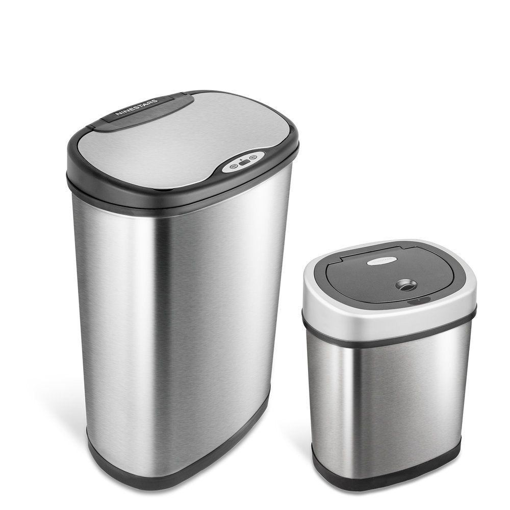 Rectangular Motion Sensor Trash Can 13.2 Gallon & 3.2 Gallon